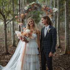 <b>Simple Forest</b> Wedding With an Ethereal Floral Hoop Backdrop