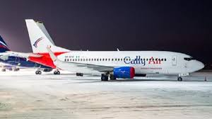 CallyAir plane departs Ostrava Mosnov, Czechia airport for Lagos