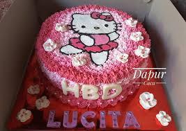 Resep Hello Kitty Cake Kue Tart Hello Kitty Oleh Ririz Dapur Caca