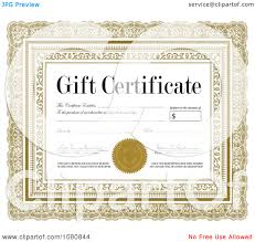 clipart ornate gold gift certificate sample signatures clipart ornate gold gift certificate sample signatures royalty vector illustration by bestvector