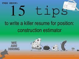 Construction Estimator Resume Sample Construction Estimator Resume Sample Pdf Ebook