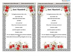 Wedding Announcement Photo Cards Free Printable Wedding Announcements Lovetoknow