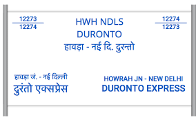12273 Ndls Duronto Howrah Jn To New Delhi Train Number
