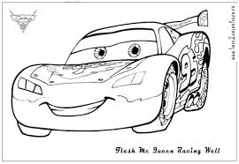 Coloriage Flash Mcqueen Cars 2