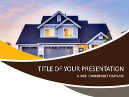real estate free real estate powerpoint template presentationgo com