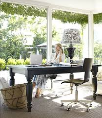 outdoor home office. a laidback ranch outdoor home office