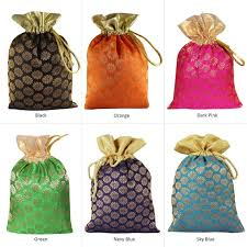 25 Pcs Potli Bag Purse Pouch Bags For Gift Brocade Art Silk   Etsy