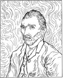 Small Picture 100 free coloring page of Vincent van Gogh painting Sunflowers