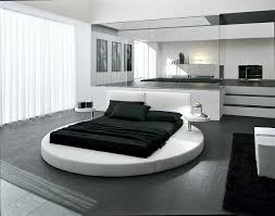 ... Sophisticated contemporary bedroom with ergonomic round bed at its heart