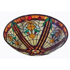 room ceiling stained glass dome with art pattern