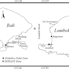 Chart Of The Lombok Strait And The Location Of Observed Data