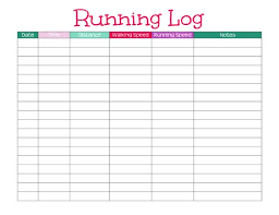 free printable running log running log com magdalene project org