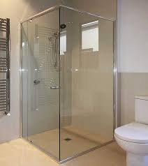 mode semi frameless shower screen 6mm glass in situ tile floor shower