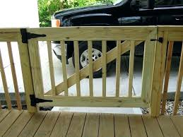 one outdoor deck gate how i built gates for our to match steel conduit rails building