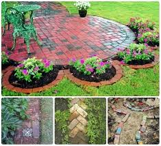 flower bed edging ideas brick edging designed in patterns and layouts raised flower bed border ideas flower bed edging