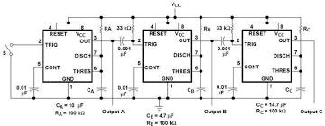 sequential timer circuit diagram using ne precision timer ic sequential timer circuit using ne555