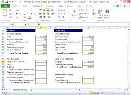 Simple Balance Sheet Template Excel Accounting Synonym Dictionary ...