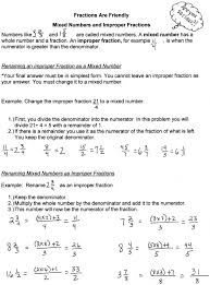 Kindergarten Worksheet: Improper And Mixed Fractions Worksheets ...