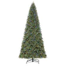 Holiday Living 12-ft Pre-lit Douglas Fir Artificial Christmas Tree with  1350 Color