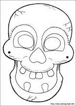 Small Picture Halloween Masks coloring pages on Coloring Bookinfo