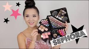 sephora into the stars palette unboxing makeup tutorial