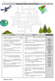 Topographic Maps Crossword Topographic Map Geography
