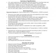 Heavy Equipment Operator Resume Cover Letter Samples Objective
