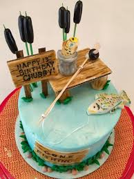Contact your nearest location for celebration cake order lead times. Gone Fishing Birthday Cake Cakecentral Com