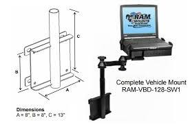 ram vbd 128 laptop stand ram mount universal wall