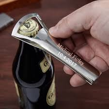 nickel plated personalized bottle opener to enlarge