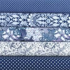 Fat Quarter Fabric Bundle. Navy Blue and White Printed Fabrics. 5 ... & Fat Quarter Fabric Bundle. Navy Blue and White Printed Fabrics. 5 Pure  Cotton Pieces Adamdwight.com