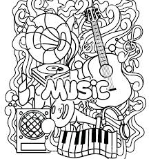 Musical Instruments Coloring Pages Chronicles Network