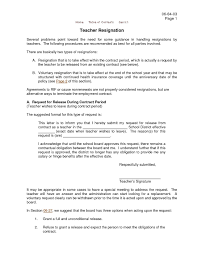 Teacher Resignation Letters Examples Teacher Resignation Letter 8 ...
