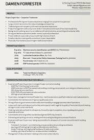 Tradesman Resume Template Carpenter Tradesman Resume Sample