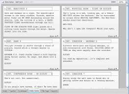 Script Index Cards Development And Realisation