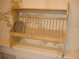 gray metal wall mounted dish drying rack