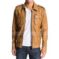 50 cent tan brown leather jacket zoom 50