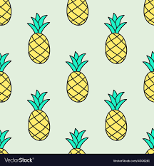 Pineapple Pattern Adorable Seamless Handdrawn Pattern With Pineapple Vector Image