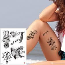 поддельные черный крошечные временные татуировки наклейки мода