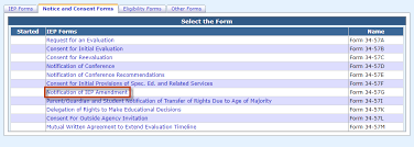 Iep Timeline Chart Illinois Notification Of Iep Amendment I Star User Guide