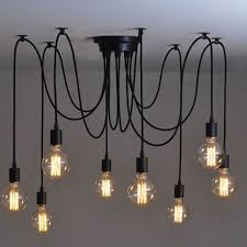 ceiling lights 8 heads vintage industrial ceiling lamp edison light chandelier within amazing chandelier pendant
