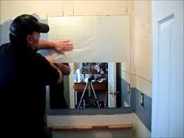 taking down a bathroom mirror you
