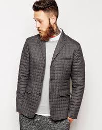 Asos Slim Fit Quilted Blazer in Gray for Men | Lyst & Gallery Adamdwight.com