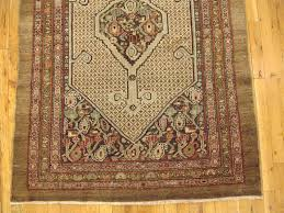 hand knotted persian hamadan camel hair oriental rug in small size with soft