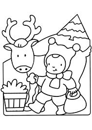 Kleurplaat Kerstman Peuters