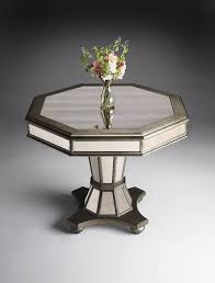 round mirrored foyer table
