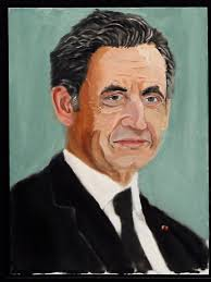 a portrait of former french president nicolas sarkozy painted by former us president george w
