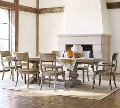 banks extending dining table large 8 bradford side chairs set gray wash