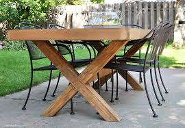 diy outdoor furniture plans. Build This DIY Outdoor Table Featuring A Herringbone Top And X Brace Legs!  Would Also Diy Outdoor Furniture Plans