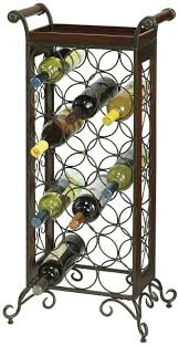 Unique Wine Racks Organizer Durable Wrought Iron Construction With Wrought Iron